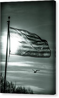 First Navy Jack Canvas Print by Chris Bordeleau