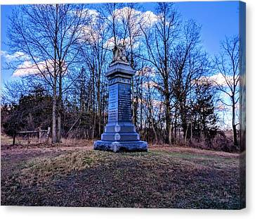 First New Jersey Cavalry Monument Canvas Print by Paul Kercher