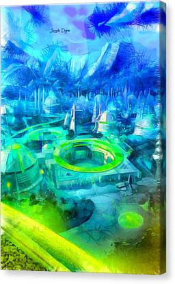 Storm Canvas Print - First Order City - Da by Leonardo Digenio