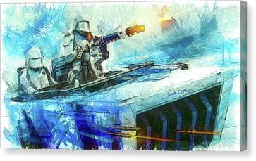 First Order Snowmobile - Pencil Style Canvas Print by Leonardo Digenio