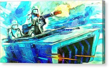 Heavy Canvas Print - First Order Snowmobile  - Van Gogh Style -  - Da by Leonardo Digenio