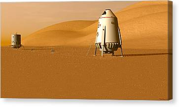Canvas Print featuring the digital art First Outpost by David Robinson