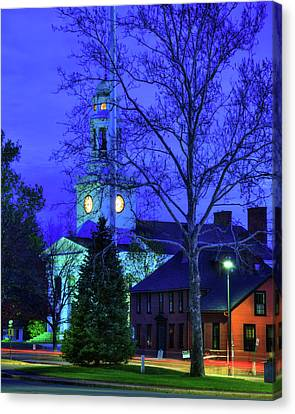 Concord Ma Canvas Print - First Parish Church - Concord Ma by Joann Vitali