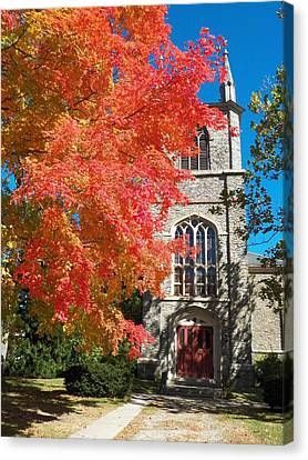 First Parish Unitarian Church Canvas Print