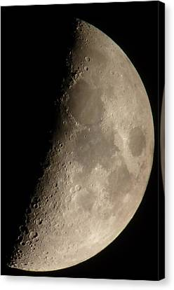 First Quarter Moon Canvas Print by George Leask