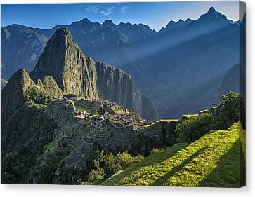 First Rays Canvas Print by Christian Heeb
