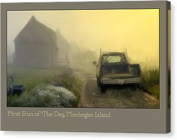 First Run Of The Day, Monhegan Island  Canvas Print by Dave Higgins