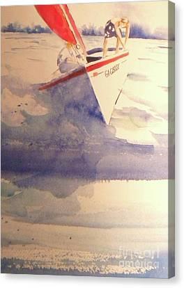 First Sailing Lesson Canvas Print