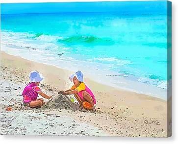 First Sand Castle Canvas Print by Susan Molnar