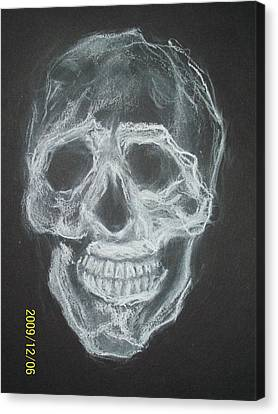 First Skull Work Canvas Print by Nancy  Caccioppo