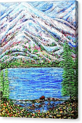 First Snow Canvas Print by Viktor Lazarev