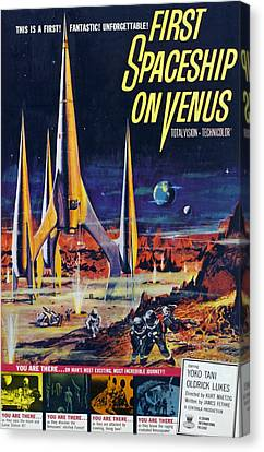 First Spaceship On Venus, Poster, 1962 Canvas Print