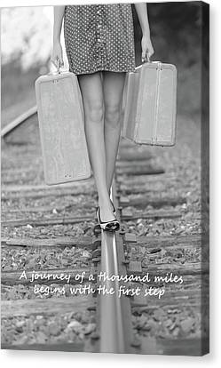 First Step Canvas Print by Barbara West