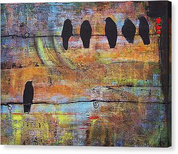Abstract On Canvas Print - First Step Is The Dream by Blenda Studio