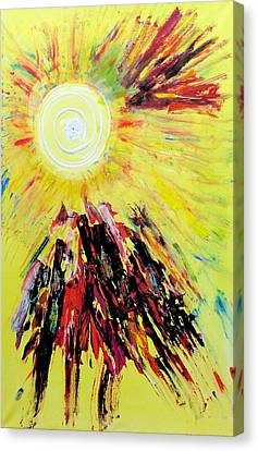 First Sun Canvas Print
