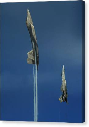 First To The Top Wins Canvas Print by Aviation Heritage Press