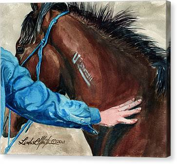 First Touch Canvas Print by Linda L Martin