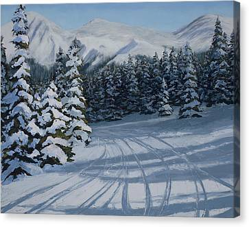 First Tracks Canvas Print by Mary Giacomini