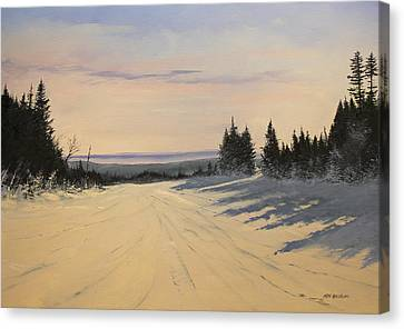 first tracks Stratton Canvas Print by Ken Ahlering