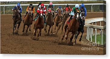 First Turn At Keeneland Canvas Print