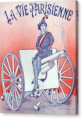First World War Propaganda   Cover Of La Vie Parisienne Canvas Print by French School