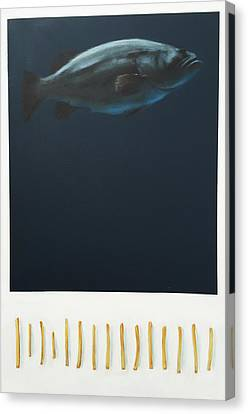 Fish And Chips Canvas Print by Jeffrey Bess