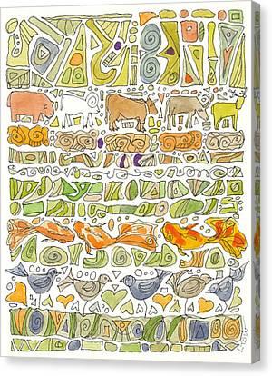 Fish And Fowl Canvas Print by Linda Kay Thomas