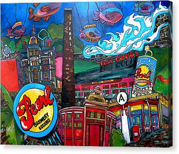 F.i.s.h. At Pearl Brewery Canvas Print by Patti Schermerhorn