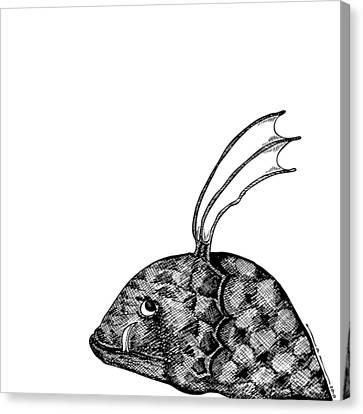 Fish Beast Canvas Print by Karl Addison