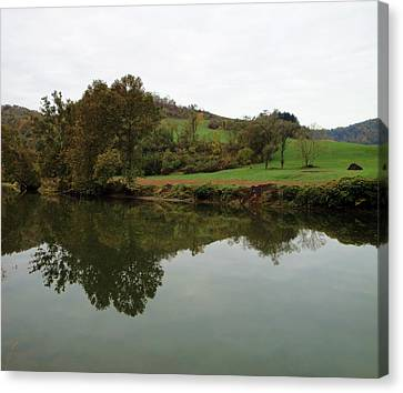 Fish Creek Reflection Canvas Print by Terry  Wiley