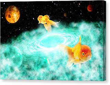 Canvas Print featuring the digital art Zen Fish Dream by Olga Hamilton