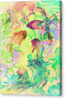 Fish Canvas Print - Fish Dreams by Rachel Christine Nowicki