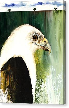 Fish Eagle Canvas Print by Anthony Burks Sr