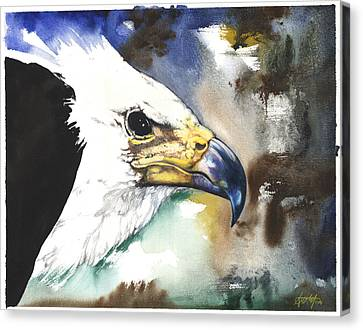 Canvas Print featuring the mixed media Fish Eagle II by Anthony Burks Sr