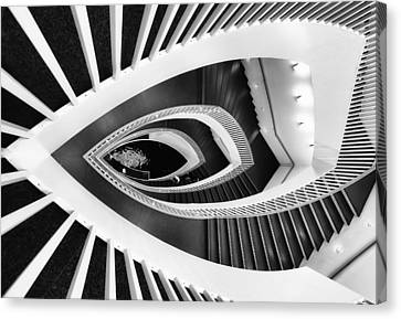 Fish-eye Abstract Staircase Canvas Print by Elena Kovalevich