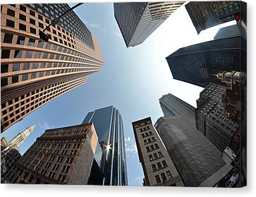 Fish-eye Lens Of Building Canvas Print by Robin Houde photography