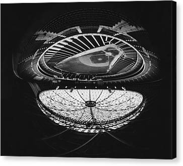 Fish Eye View Of The Astrodome Aka The Canvas Print by Everett