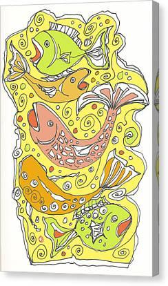 Fish Fish Canvas Print by Linda Kay Thomas
