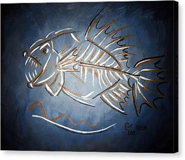 Fish Head Canvas Print