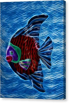 Fish In Water Canvas Print by Shane Bechler