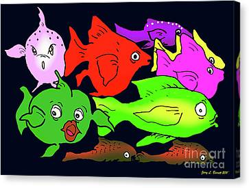 Fish Canvas Print by Jerry L Barrett