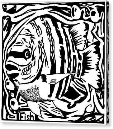 Fish Maze Canvas Print by Yonatan Frimer Maze Artist