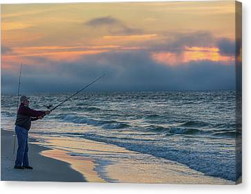 Canvas Print featuring the photograph Fish On In Alabama  by John McGraw