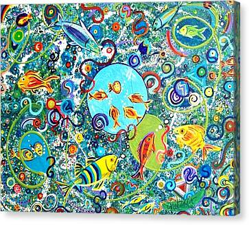 Fish Party Canvas Print by Paintings by Gretzky