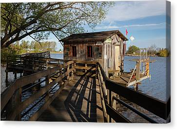 Canvas Print featuring the photograph Fish Shack by Fran Riley