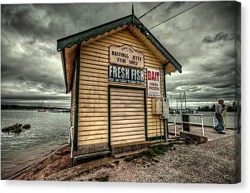 Fish Shed Canvas Print by Wayne Sherriff