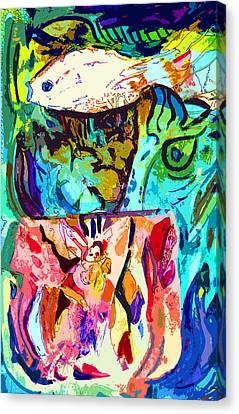 Fish Soup Canvas Print by Mindy Newman