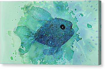 Fish Splash  Canvas Print by ARTography by Pamela Smale Williams