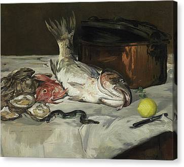 Fish Still Life Canvas Print by Edouard Manet