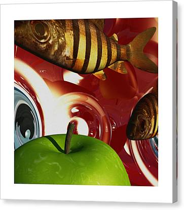 Fish Tripping Canvas Print by Richard Rizzo